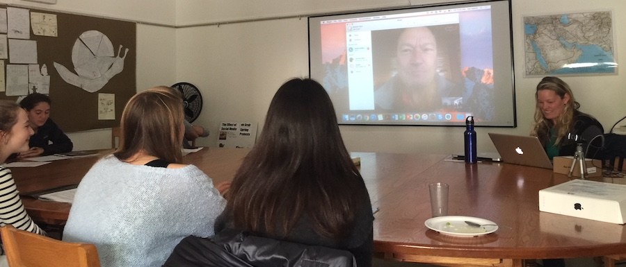 NY Times Journalist Scott Anderson Attends History Class via Skype!
