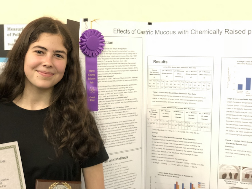Students Honored at Marin County Science Fair
